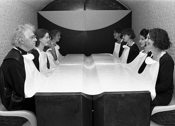 Tablecloth, 1991, nonwovens, produced as BIB