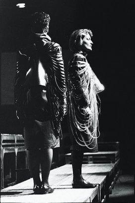 ' Stof tot bewegen ', jan. 1985, dansvoorstelling, Turnhout, Belgïe